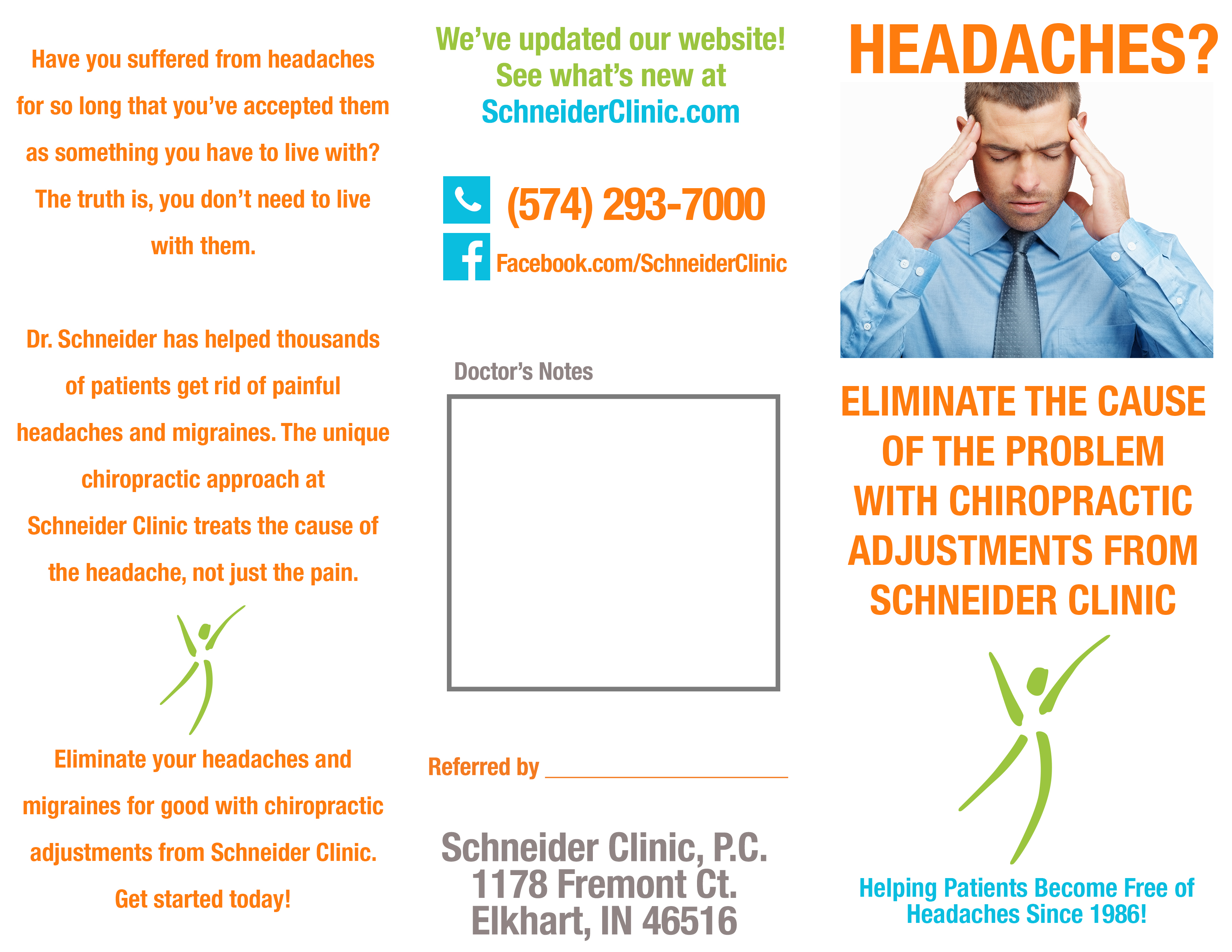 Headaches Brochure Front